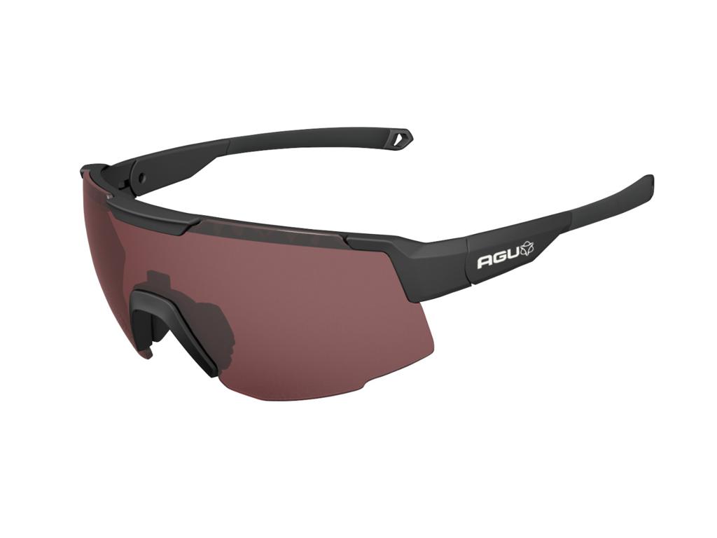 Image of   AGU - Sports- og Cykelbrille - Mat Sort - 3 sæt linser