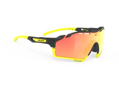Rudy Project Cutline - Løbe- og cykelbrille - Multilazer orange linser - Sort/Gul
