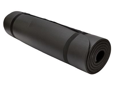 OnGear - Yogamåtte 180x60x1,0 cm - 10 mm - Øko venlig - Sort