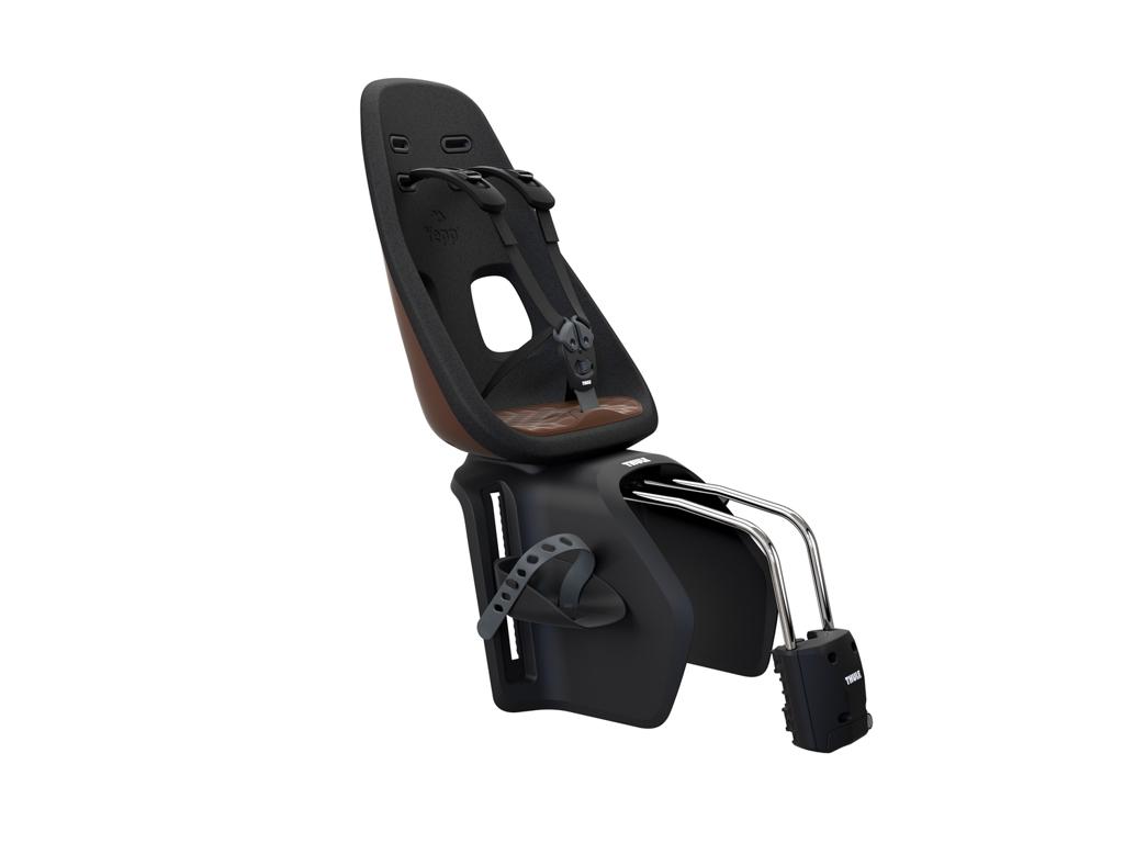 Thule Yepp Nexxt Maxi - Cykelstol med 5-punktssele - Stelmonteret - Sort/brun thumbnail