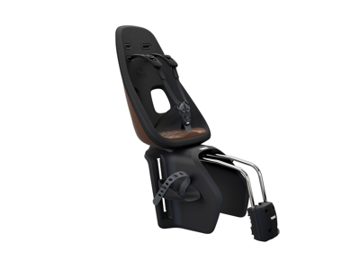Thule Yepp Nexxt Maxi - Cykelstol med 5-punktssele - Stelmonteret - Sort/brun