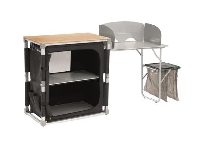 Outwell Padres - Foldbar Køkkenbord med sidebord - Aluminium/Bambus