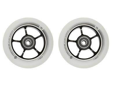 Streetsurfing - Aluminiums hjul til løbehjul - 2 stk - 100mm - Hvid