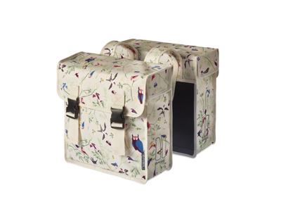 Basil Wanderlust Double Bag - Cykeltasker til bagagebærer - 35 liter - Ivory