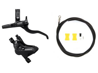 Shimano Deore - Bremsesæt hydraulisk med 4 stempler - For/venstre - MT420