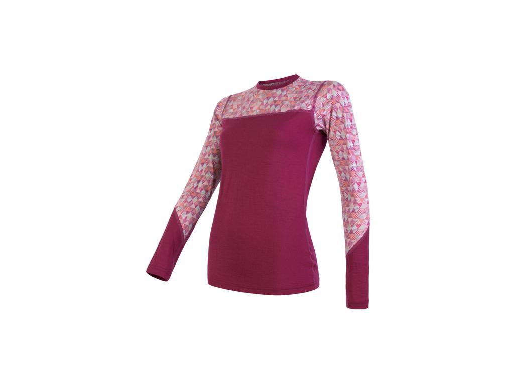 Sensor Merino Impress - Merinoulds T-shirt med lange ærmer - Dame