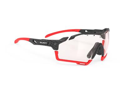 Rudy Project Cutline - Løbe- og cykelbrille - Fotokromisk 2 red linser - Sort/Rød
