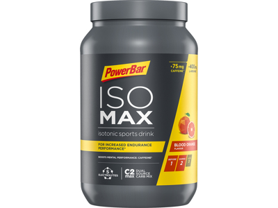 Powerbar ISOMAX - Blood Orange med Koffein - 1200g