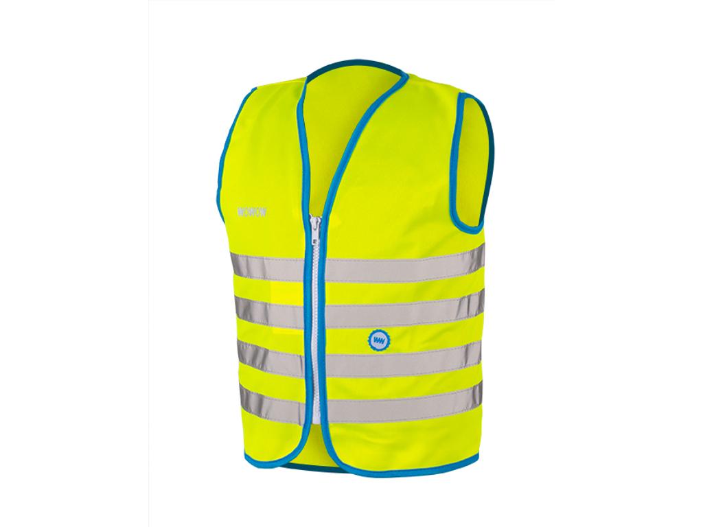 WOWOW Fun jacket - Refleksvest med lynlås til børn - Neongul