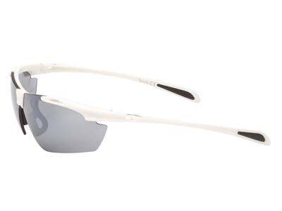 Ongear Croix de Fer - Cykelbrille med PC Smoke flash mirror linse - Mat hvid