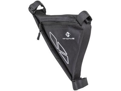 M-Wave Rotterdam Tri - Cykeltaske til stel - Velcro montering - Sort