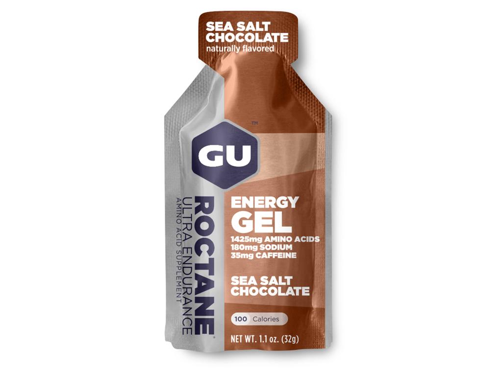 GU Roctane Energy Gel - Sea Salt Chocolate - 35 mg koffein - 32 gram