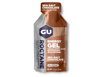 GU Roctane Energy Gel - Sea Salt Chocolate - 35 mg koffein - 32 gram