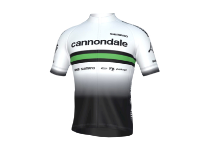 Cannondale Team Racing - Cykeltrøje med korte ærmer - Hvid Team