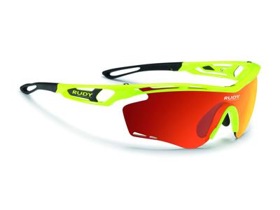 Rudy Project Tralyx - Løbe- og cykelbrille - Multilaser orange linser - Fluo gul