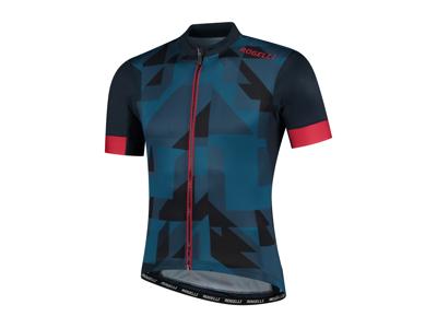Rogelli Brisk - Cykeltröja - Korta ärmar - Blå / Röd