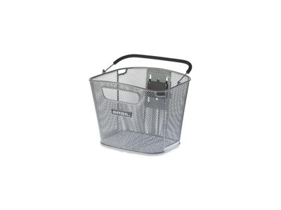 Basil Bold - Cykelkurv til front - Aftagelig - Sølv