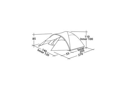 Easy Camp Quasar 200 - Telt - 2 Personer - Rustic Green