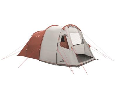 Easy Camp Huntsville 400 - Telt Med 2 Kabiner - 4 Personer - Rød/Hvid