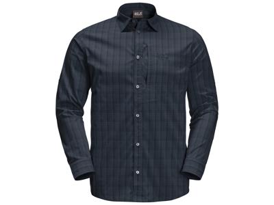 Jack Wolfskin Rays Flex Skjorte - Hr. - Night Blue checks