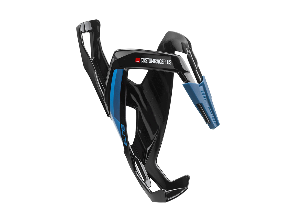Image of   Elite Custom Race+ - Flaskeholder - Black Glossy Blue graphic