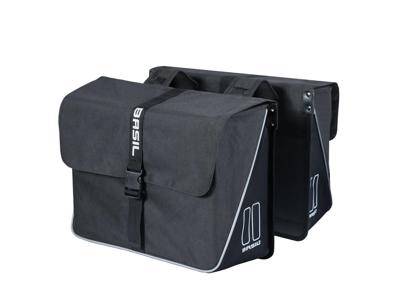 Basil Forte Double Bag - Cykeltasker til bag - 35 liter - Black