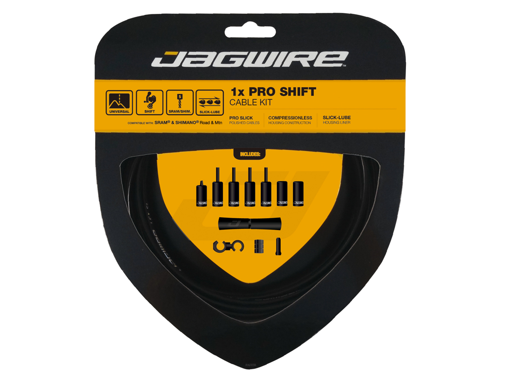 Image of   Jagwire - Pro Shift - 1x Gearkabel sæt - Road/MTB - Sort