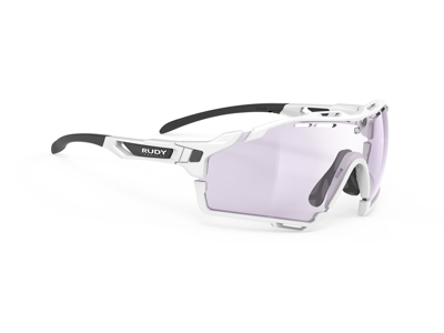 Rudy Project Cutline - Løbe- og cykelbrille - Fotokromisk 2 laserpurple linser - Hvid