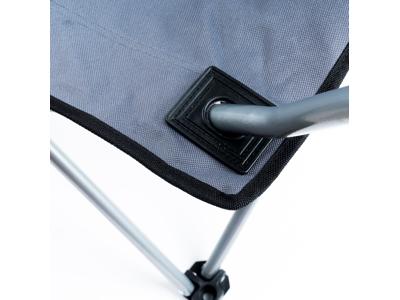 Lome Oxford - Camping stol med kop holder - Foldbar - Stålrør - Grå