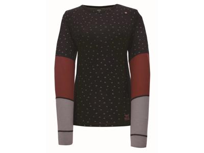 2117 OF SWEDEN Ullånger LS - Dame T-Shirt  - Sømløs - Black Print