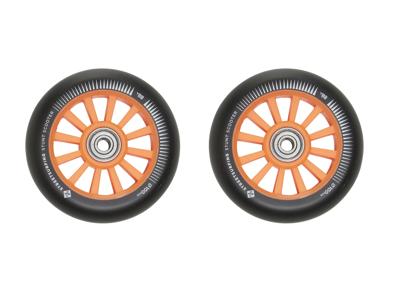 Streetsurfing - Nylon core hjul til løbehjul - 2 stk - 100mm - Orange/Sort