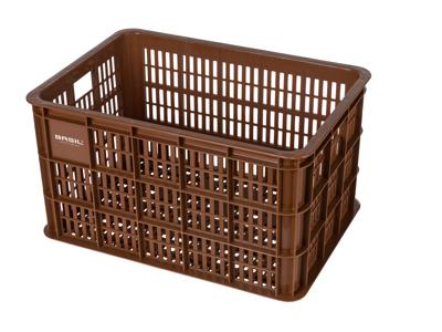 Basil Crate L - Plast kurv - Til opbevaring eller bagagebærer - Saddle brown