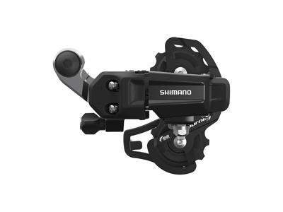 Shimano Tourney - Bagskifter RD-TY200 Sort - Til 6 eller 7 gear - Med klo til montering
