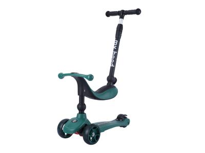 My Hood Kick'n Ride - Løbehjul - Til børn fra 1 år - Mørkegrøn