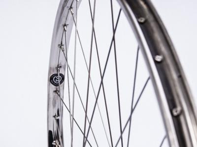 Connect forhjul - 28 x 1 1/2 - Rustfri stålfælg