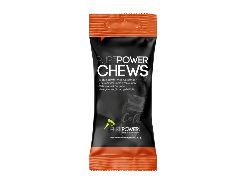 PurePower Cola Chews - Vingummi med colasmag - 40 gram