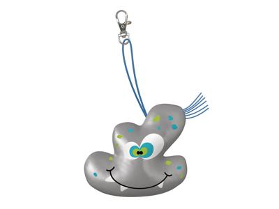 WOWOW Crazy Monsters - Bob - Refleksfigur med karabinhage