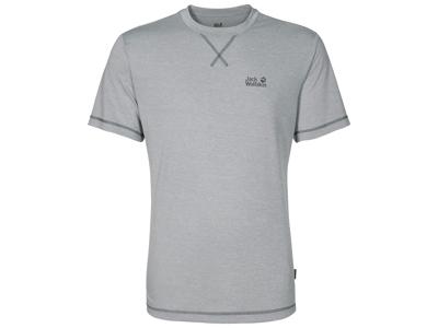 Jack Wolfskin Crosstrail T-Shirt - Hr. - Silver Grey