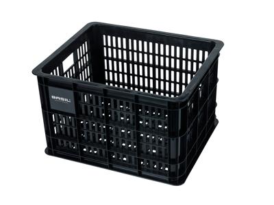 Basil Crate M - Plast kurv - Til opbevaring eller bagagebærer - Black