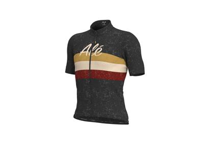 Alé Classic Epica - Cykeltrøje m. korte ærmer - Sort