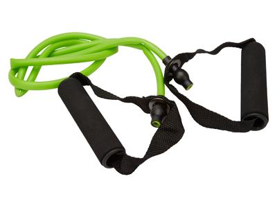 OnGear - Træningselastik - Toning Tube m/håndtag - Light - 1200x9x6mm - Grøn