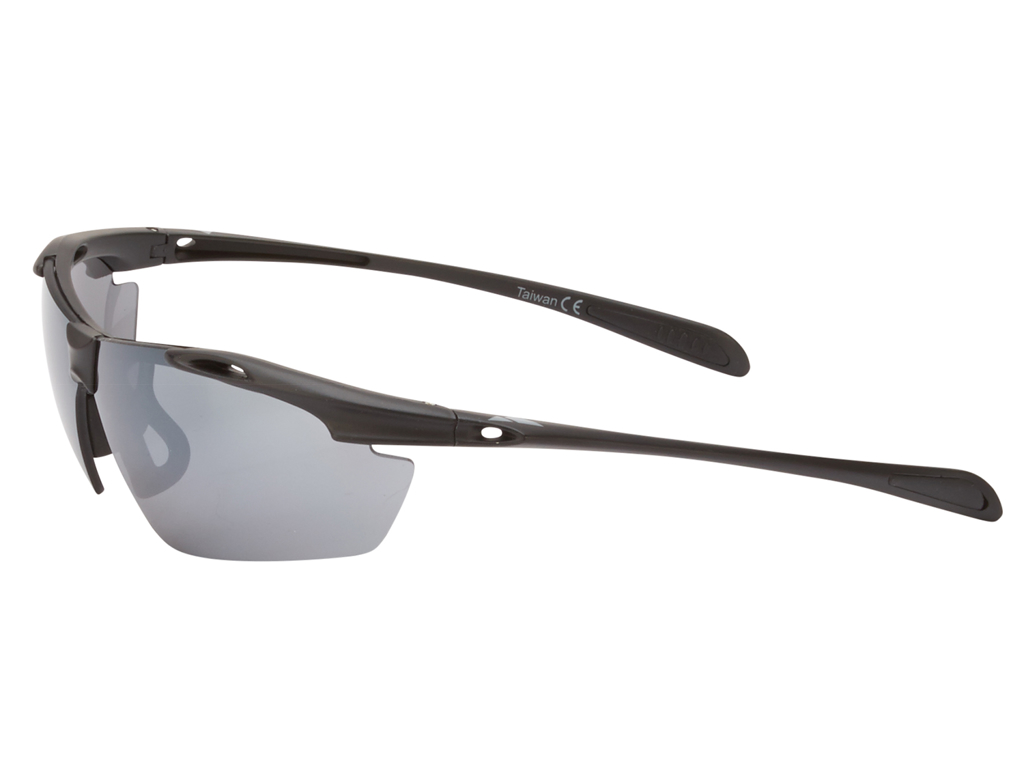 Ongear Finestre - Cykelbrille med PC Smoke flash mirror linse - Mat sort