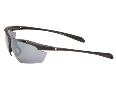 Ongear Finestre - Cykelbrille med PC Smoke flash mirror linse - Mat sort