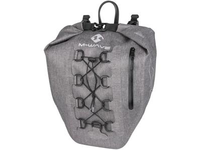 M-Wave Suburban - Cykeltaske til bagagebærer - 100% vand og støvtæt - Clip On system - Grå