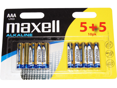 Maxell - Batteri - AAA/LR03 Alkaline - 10 stk