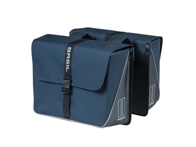 Basil Forte Double Bag - Cykeltasker til bag - 35 liter - Navy blue
