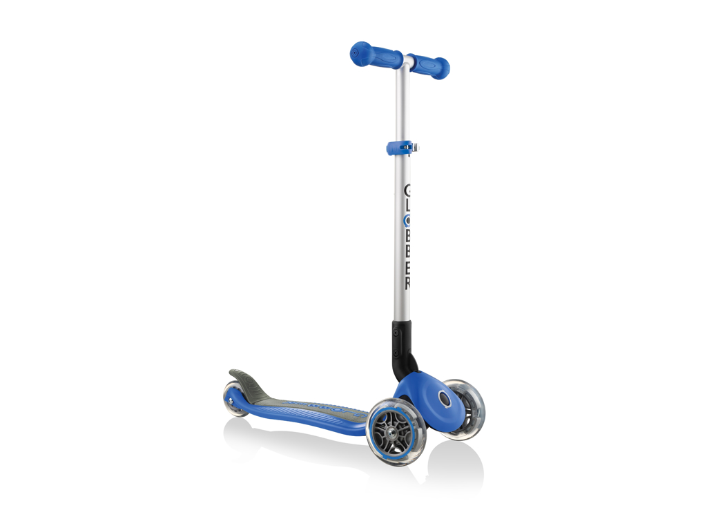 Globber Primo foldbar - Løbehjul til børn med 3 hjul - Blå thumbnail