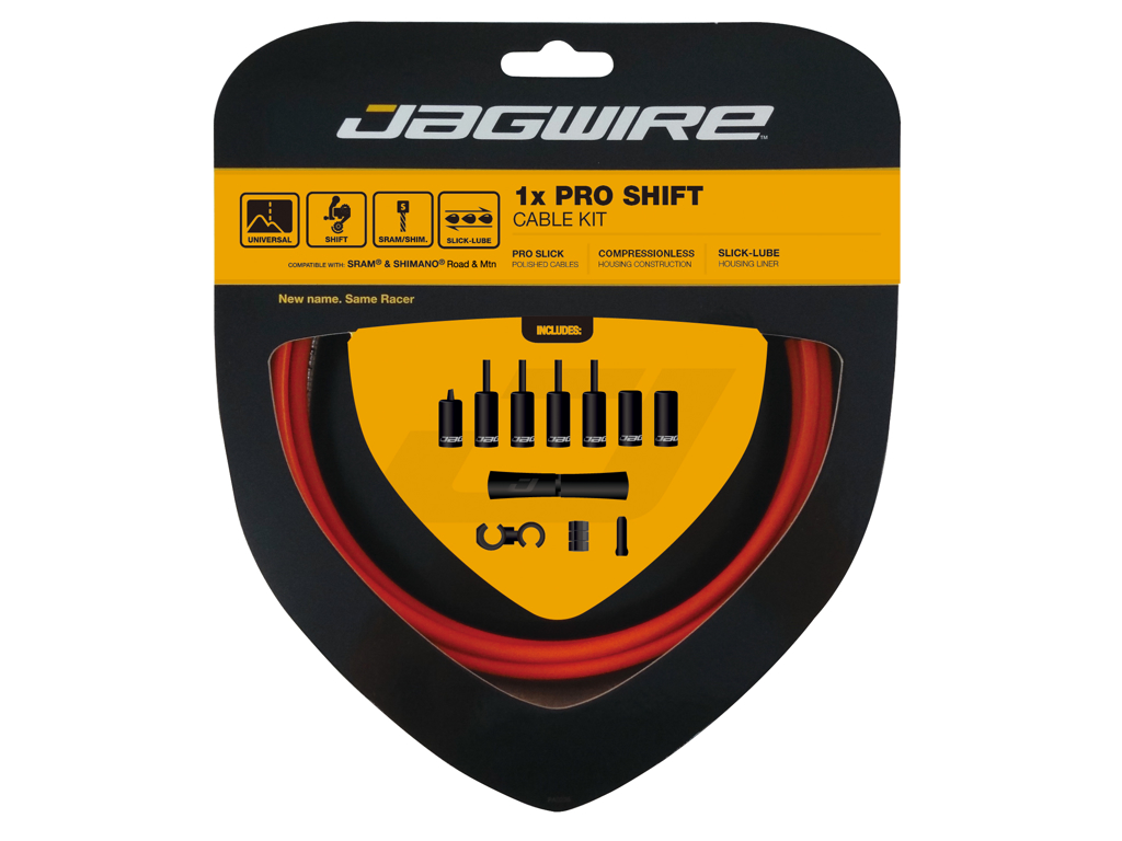 Image of   Jagwire - Pro Shift - 1x Gearkabel sæt - Road/MTB - Orange