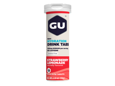 GU Hydration Tabs - Strawberry Lemonade - 1  x 12 stk.