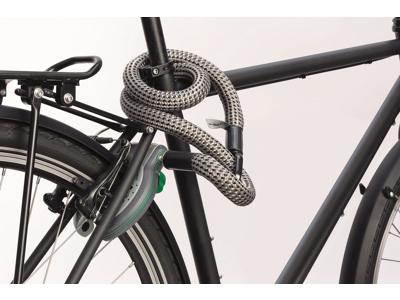 Texlock MATE  - Cykellås - Tekstillås - Grå -  Str. 120 cm